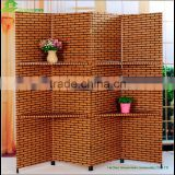 Paper rope Countryside style beautiful doors interior room divider Unique decorative countryside style folding screen GVSD004
