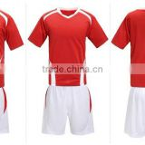 2016 new design slim fit soccer jersey soccer uniform football shorts custom color China factory