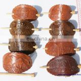 Leather Hair Clips Barrettes Ethnic Design Drawings for Women's Fashion Stores