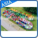 Adult Use Inflatable Outdoor Obstacle Course Equipment On Land For Sale