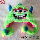 Horrible three eyes green soft comfortalbe baby kids gift hat toy