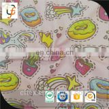 lowest price custom digital printing cotton lycra knit fabric for baby