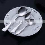 Wholesale ceramic tableware Drop Shipping Mirror Polishing Salad,Ice Cream Spoon,Stainless Steel Tableware