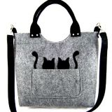 Black felt handbag felt handbags factory from China