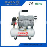 Silent oil free air compressor for dentist, painting, surfing breathe