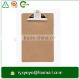 high quality sturdy MDF writing clipboard for office/school supplies with butterfly clip