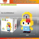 Mini Nano bricks toy particles building blocks with KTseries cartoon models
