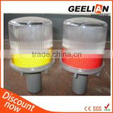 High brightness solar cone barricade warning light on sales