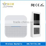 FORRINX Wireless Door Chime No Need Battery for the Receiver and Transmitter 52 Songs 300m Range LED Indicator