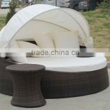 2012 classic style aluminum round rattan outdoor bed outdoor daybed                                                                         Quality Choice