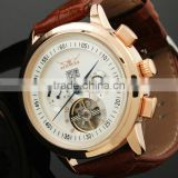 ESS Gent's White Tourbillon Rose Golden Elegant Automatic Mechanical Men Watch WM234