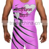 Make your own design china wrestling singlets/cheap custom wrestling singlets with low moq