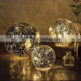 Glass Ball Lights, Set of 3 Includes a timer function that will light balls for six hours and then automatically turn off