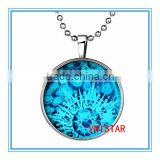 Vnistar wholesale Latest Christmas jewelry Luminous necklace snowflake &time gemstone pendent for party VN022