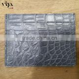 genuine crocodile leather skin business card holder real picture in stock provide sample high end wallet