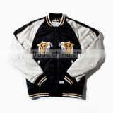 Custom made nylon satin jacket,Custom made nylon letterman jacket,Custom made nylon bomber jacket