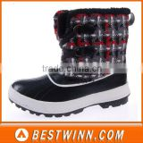 winter snow boots with man-made fur lining
