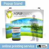 Custom Size High Quality Long Life Printed Type PP Advertising Banner Popup Stand