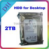 brand second hand hard disk 2TB SATA 3.5inch 7200rpm 64MB for PC/DVR