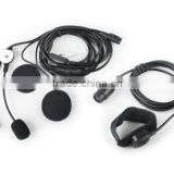 communication system talk headset throat microphone PPT 2 Way Radio Headsets Earphone for outdoor CL42-0002