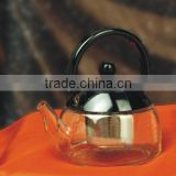 Hot sale beautiful fancy tableware clear heat resistant glass teapot made in china