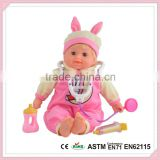 Manufactures Of Plastic Dolls With Feeding Bottle Pretend Play Set High Quality Barbie Baby Doll