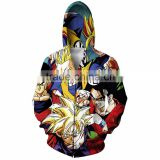 Wholesale hoody men custom Fashion cartoon 3D hoody sweater plain 100% polyester hoodies