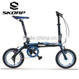 Alloy Single Speed 14 Inch Folding Bike Small Wheel Cheap Folding Bicycle