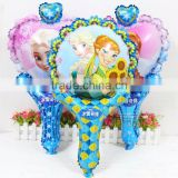 Anna & Elsa princess clapper stick balloon foil mylar inflatable cheer stick balloons for baby shower toys