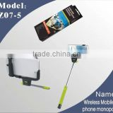 2014 self-shooting monopod for htc 5 Z07-5 mini monopod for action camera iphone monopod