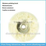 03T22 Cotton Yarn Miniature Wheel Shaped 22mm Rough Dental Laboratory Rotary Polishing Brush Cotton Yarn Buff
