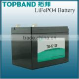 rechargeable lithium ion battery12v 12Ah LiFePO4 Battery Pack with PCM Protection for Solar power PV system home energy storage