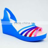 HAVE STOCK 2013 newest arrival lady sandals EVA+TPU material heels-up seven color available women footwear