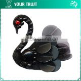 Handmade Bead Black Swan Decorative Flower For Dresses Gift Crafts