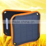High conversion rate 5600mah fireproof solar power bank with 8 led lights