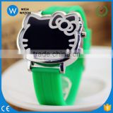 LED007/Jelly Band LED Digital Cute Cat Face Silicone 12 Colors Candy colors Quartz Watch Bands Students Children Jelly Watches