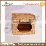 Hot sell soft cozy cat house pet cave , cushion cat bed