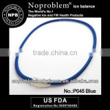 P045 blue Titanium Ion Balance power health necklace Band