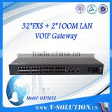 OEM 2/4/8/16/32 Port RJ45 to RJ11 Analog Telephone Adapter FXS FXO Sip ATA Voip Gateway Device with SNMP CLI WEB Management