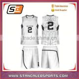 Stan Caleb cheap price Italy ink sublimation printing basketball jersey latest design best custom white basketball jersey