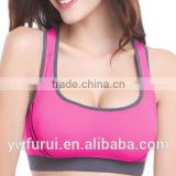 Double shock without rims running yoga sports bra sexy back X cross back non-trace sports bra