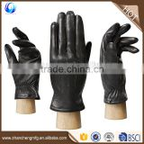 Classic cheap mens winter black fleece lined deerskin B grade leather gloves manufacturers