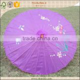 Oil Printed Paper Bamboo Parasol for Wedding Decoration