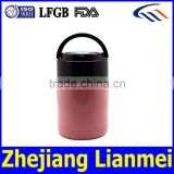 OEM 2 Compartments 18/8 Stainless Steel Food Container ,Stainless Steel Lunch Box with PP handle