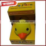 Temperature measurement weighted floating rubber ducks