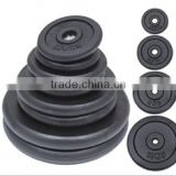 Black Painted cast iron weight plates for weight lifting