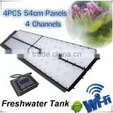 WiFi version 4 channels programmable setting Freshwater fish live led aquarium light 150x80cm 360W