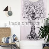 Tree Of Life Wall Art Bohemian Indian Cotton Wall Hangings Gypsy Tapestry