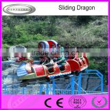 Funfair kids and adults outdoor amusement park rides dragon sliding roller coaster for sale