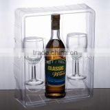 high quality hot sale blister packing box for wine ,cup